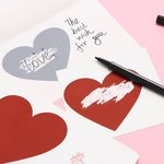 Nutrinami lipdukai Širdelės