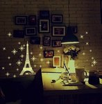 """Tamsoje šviečiantis sienos lipdukas """"Paryžiaus bokštas"""""""