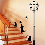 "Sienos lipdukas ""Cat's at Night"""