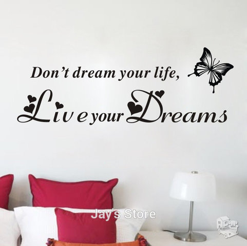 "Sienos lipdukas ""Don't Dream Your Life"""