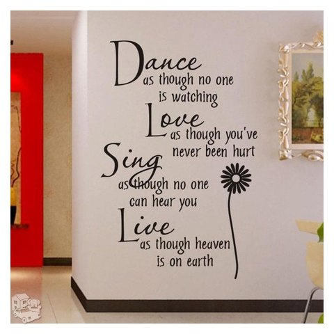 Sienos lipdukas Dance Love Sing Live