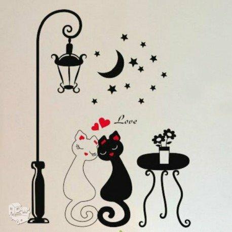 "Sienos lipdukas ""Cat's Love"""