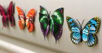 """3D Sienos lipdukai """"Dvigubi drugeliai"""""""