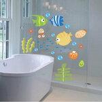 "Sienų lipdukai ""Tropical Fish Bubble"""