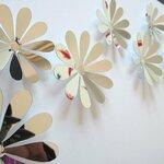 """Veidrodiniai 3D sienos lipdukai """"Gėlytės"""""""