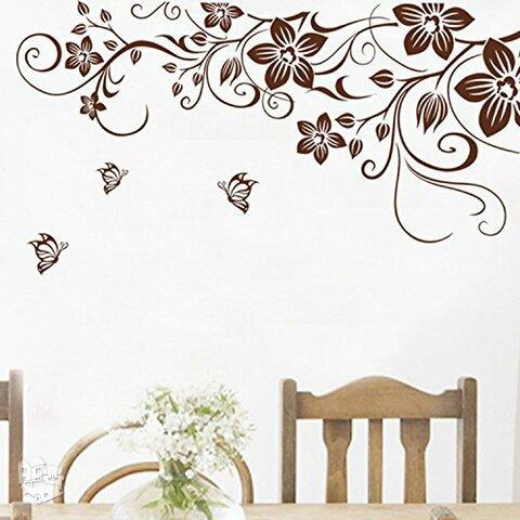 "Sienos lipdukas ""Brown Flower"""