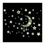 """Tamsoje šviečiantis sienos lipdukas """"Švytintis mėnulis2"""""""