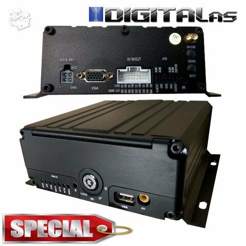 Profesionalus automobilinis 4 kanalų vaizdo registratorius