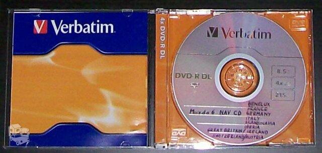 Veikiantis Mazda 6 Navigacijos DVD su vakarų Europos žemėlapiais