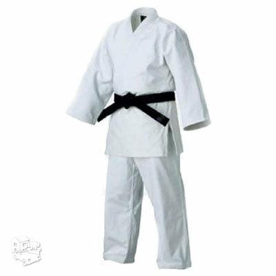 Dziudo kimono (švarkas, kelnės ir baltas diržas)