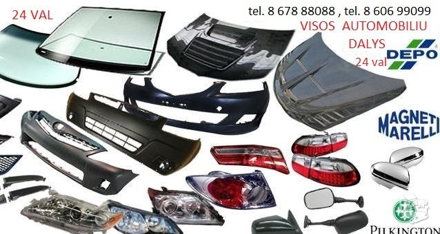 Volkswagen Transporter žibintai / kėbulo dalys