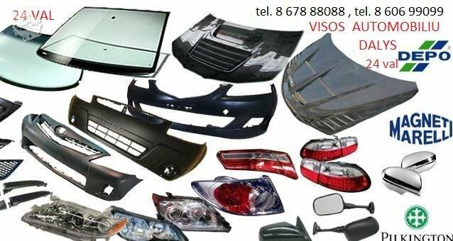 Peugeot 206 žibintai / kėbulo dalys