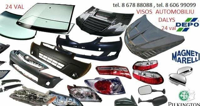 Peugeot 307 žibintai / kėbulo dalys
