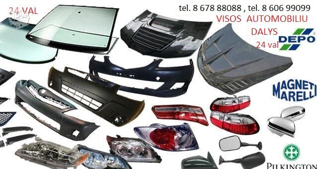 Dodge Challenger žibintai / kėbulo dalys