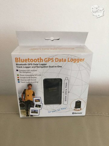 Bluetooth GPS data loger