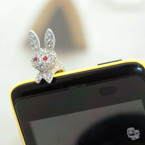 """Audio lizdo apsauga nuo dulkių """"Kiškutis"""" 3.5mm"""