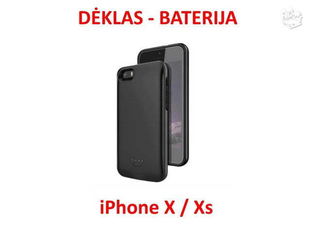IPhone Xr dėklas - baterija 5000 mah