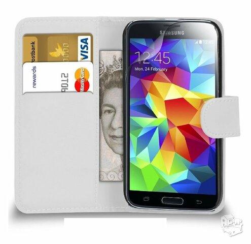 Samsung S4 balti dėklai (knygutės)