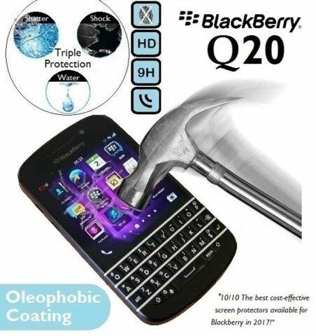 Blackberry Q20 ekrano H9 grudintas apsauginis stiklas