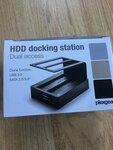 Naujas HDD Dockingas 2.5 3.5 sata diskams