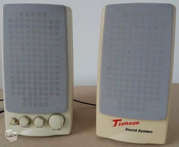 Kompiuterinės kolonėlės apie 1995 metai.