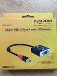 Adapeteris is USB vaizdo perdavimas i VGA