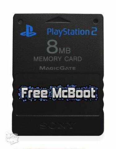 PlayStation 2 atminties kortelė su atrišimu