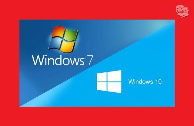 Windows 7, Windows 10 įrašymas Fabijoniškėse, Šeškinėje,