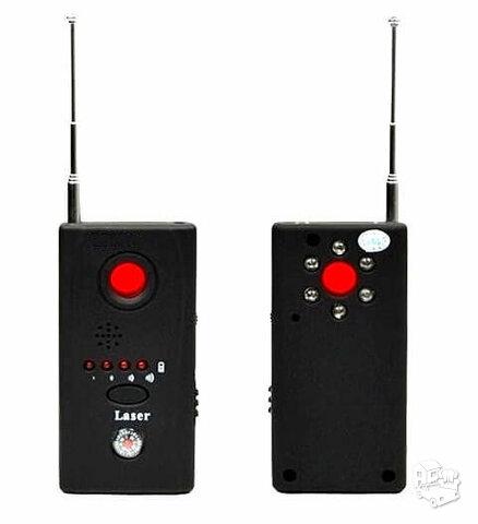 Slaptų kamerų ir pasiklausymo blakių detektorius aptinka GSM GPS