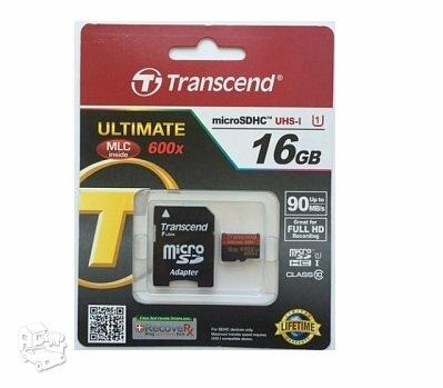 Transcend micro SD 16gb 90mb/s