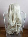 Naujas dirbtiniu plauku perukas blond 65cm